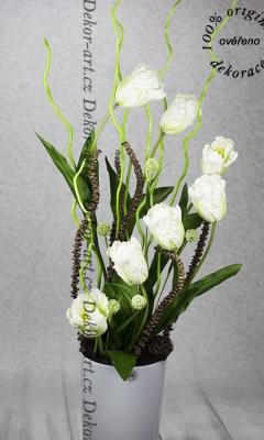 Dekoračná váza s tulipány