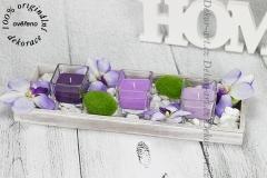 Moderný dizajnový svietnik ako dekorácia na stol