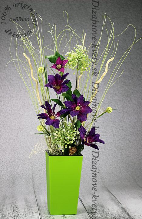 Moderné dizajnová vysoká kvetina.