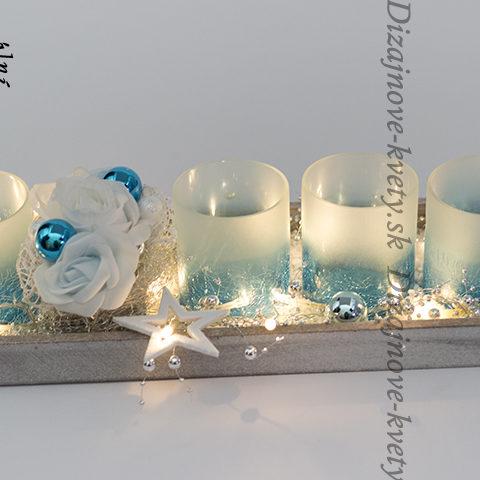 Moderný ľadový vianočný svietnik bezpečný s led svetlami