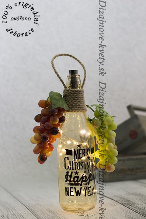 Luxusný doplnok držiaku na víno s LED osvetlením.